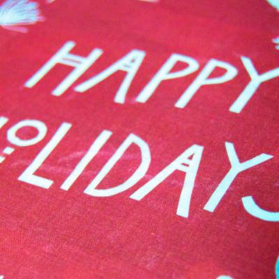Shadow Printed Holiday Wreath
